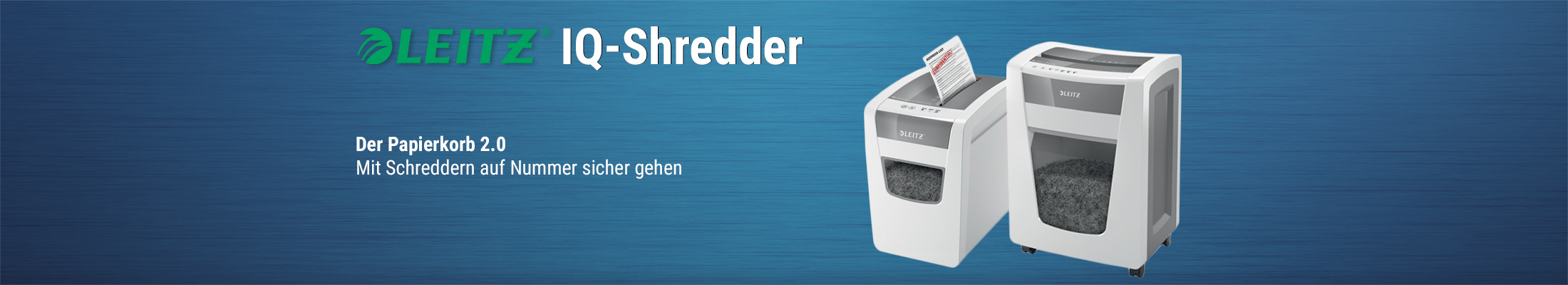 Leitz IQ-Shredder Papierkorb 2.0